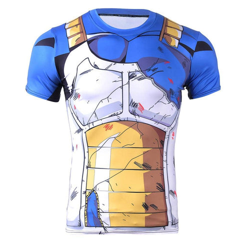 Dragon Battle Ravaged Compression Shirt Men's Short Sleeve - Superhero Gym Gear