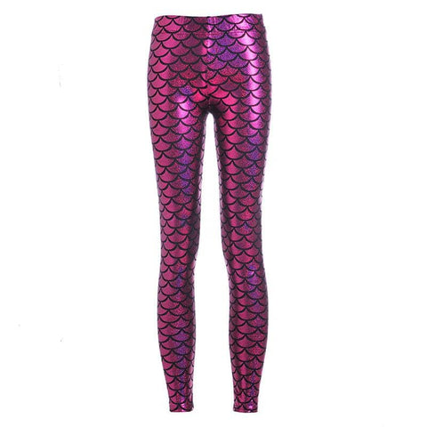 Fuschia Mermaid Women's Leggings - Superhero Gym Gear