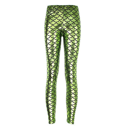Light Green Mermaid Women's Leggings - FitKing
