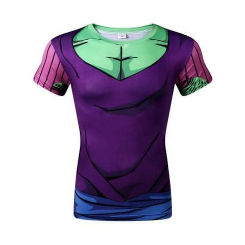 Dragon Ball Z Piccolo Compression Shirt Short Sleeve - Superhero Gym Gear