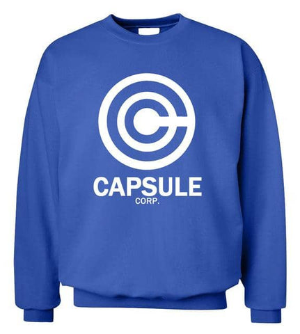 Capsule Corp Sweater Blue - Superhero Gym Gear