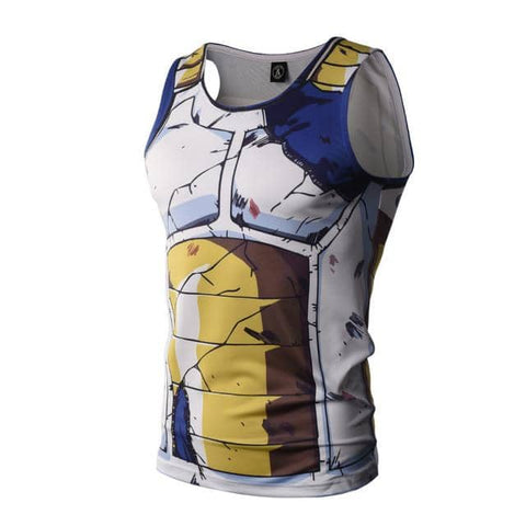 Dragon Ball Z Vegeta Torn Workout Tank - Superhero Gym Gear
