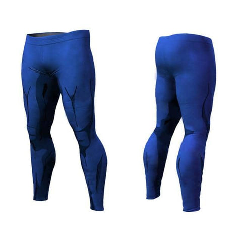 Dragon Blue Warrior Leggings - Superhero Gym Gear