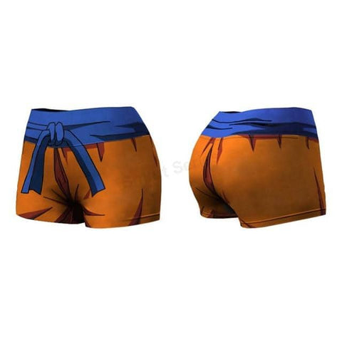 Dragon Orange Compression Shorts - Superhero Gym Gear