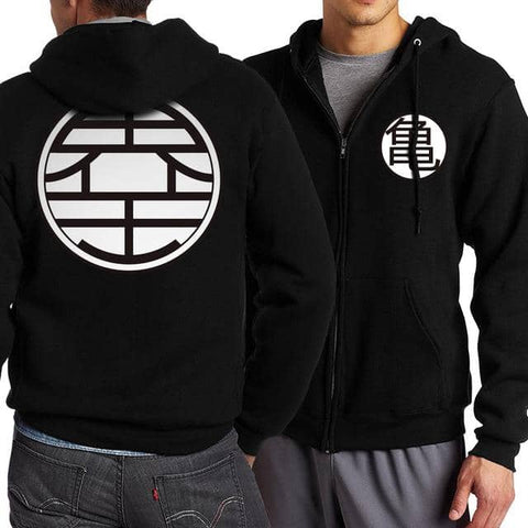 Dragon Warrior Zip Up Hoodie BW Version 3 - FitKing