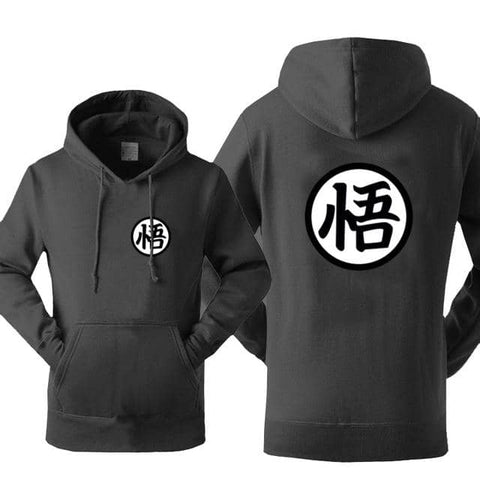 Dragon Warrior Hoodie Charcoal - Superhero Gym Gear