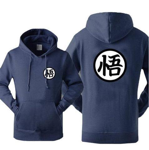Dragon Warrior Hoodie Dark Blue - Superhero Gym Gear