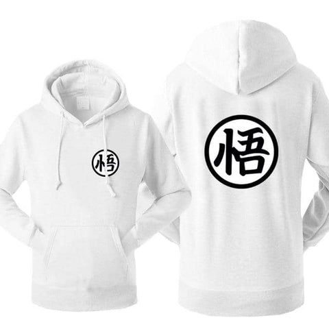 Dragon Warrior Hoodie White - Superhero Gym Gear