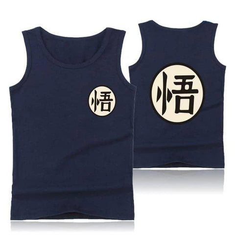 Dragon Dark Blue Plain Tank - Superhero Gym Gear
