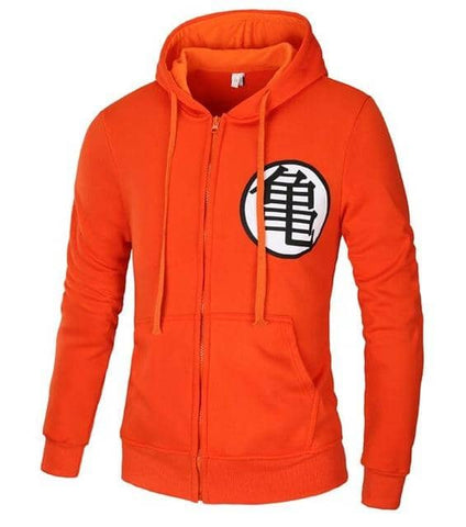 Dragon Warrior All Orange Hoodie - Superhero Gym Gear