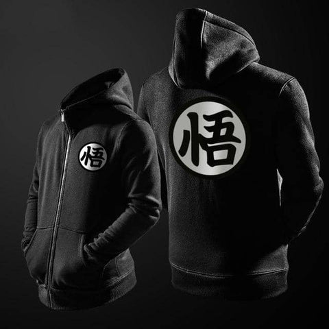 Dragon Ball Z Zip Up Black Hoodie