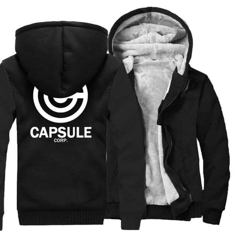 Dragon Thick Winter Capsule Hoodie Black - FitKing