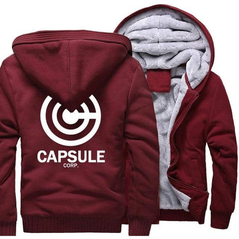 Dragon Thick Winter Capsule Hoodie Wine Red - FitKing