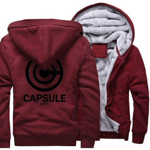 Dragon Thick Winter Capsule Hoodie Wine Red with Black - Superhero Gym Gear
