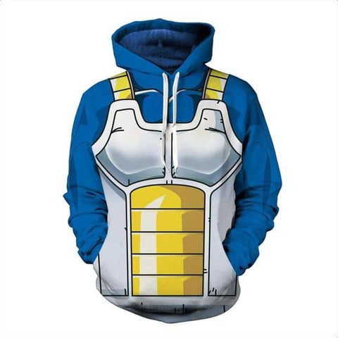 Blue Yellow Dragon Hoodie - Superhero Gym Gear
