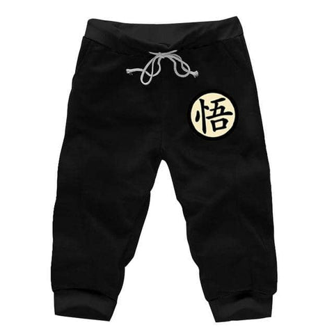 DBZ Black Workout Shorts Version 2 - Superhero Gym Gear