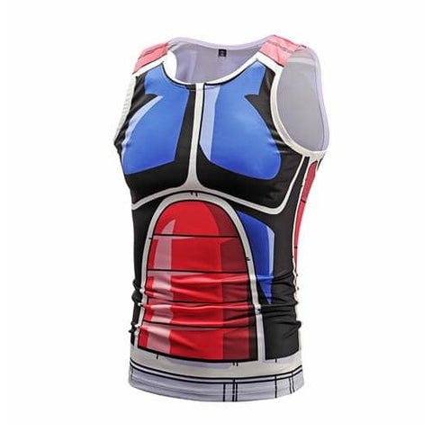 Dragon Workout Tank Blue and Red Armor - Superhero Gym Gear