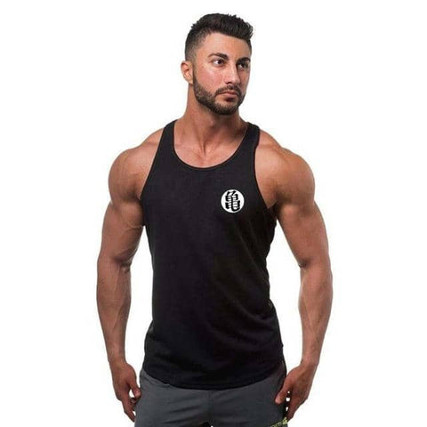 Dragon Ball Z Black Classic Training Vest Version 2 - Superhero Gym Gear