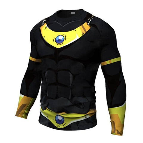 Dragon Premium Black and Yellow - Long Sleeve - Superhero Gym Gear