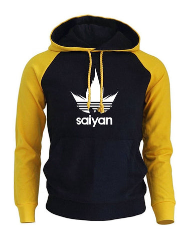 Dragon Saiyan Hoodie Collection Yellow and Black - Superhero Gym Gear