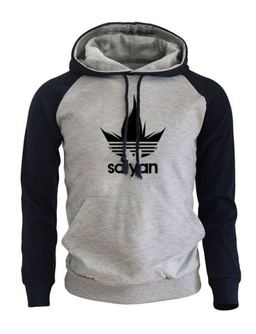 Dragon Saiyan Hoodie Collection Dark Blue and Gray - Superhero Gym Gear