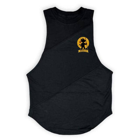 Dragon Warrior Cross Seam Tank Black - Superhero Gym Gear