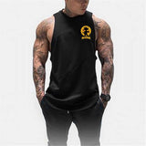 Dragon Warrior Hooded Tank Black - Superhero Gym Gear