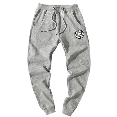 Dragon Joggers Gray Workout Pants Version 3 - FitKing