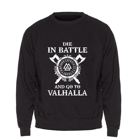 Odin Vikings Sweatshirt - Die In Battle And Go To Valhalla Multiple Colors - Superhero Gym Gear