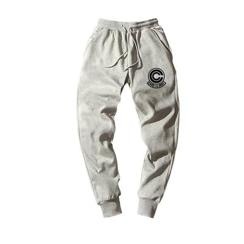 Dragon Capsule Joggers Gray Workout Pants - FitKing