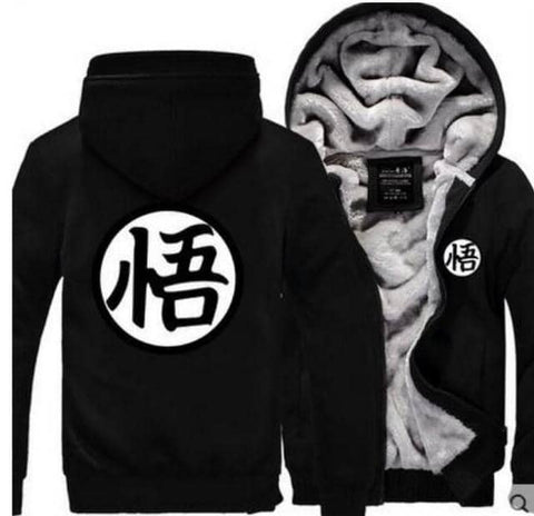 Dragon Warrior Thick Winter Hoodie Black - FitKing