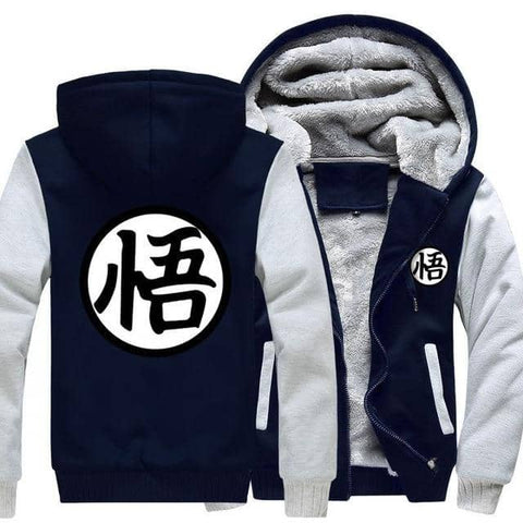 Dragon Warrior Thick Winter Hoodie Light Gray - FitKing