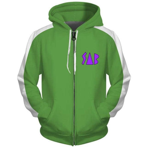 Dragon Sab Hoodie Green - Superhero Gym Gear