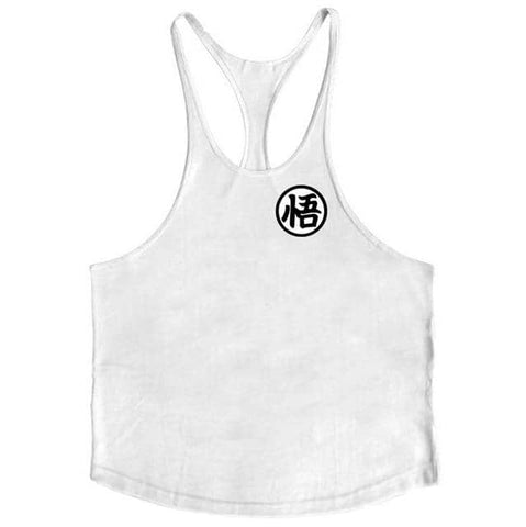 Dragon Simple Workout Tank White - Superhero Gym Gear
