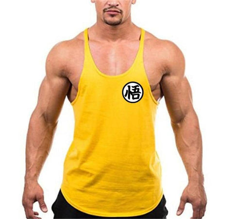 Dragon Simple Workout Tank Yellow - Superhero Gym Gear