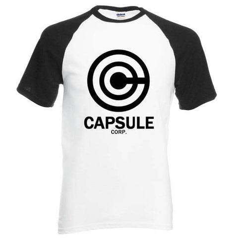 Dragon Capsule Fitted Shirt Black and White - Superhero Gym Gear