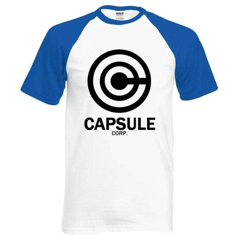 Dragon Capsule Fitted Shirt White and Blue - Superhero Gym Gear