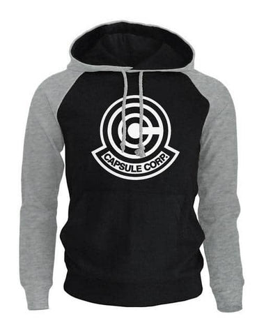 Black with Gray Capsule Hoodie Logo - Superhero Gym Gear
