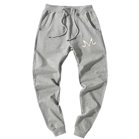 Majin Demon Joggers Gray White - Superhero Gym Gear