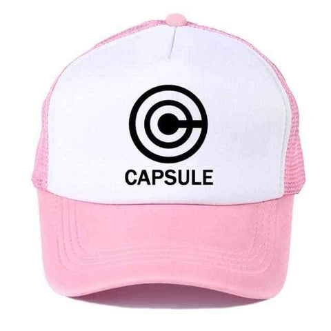 Dragon Capsule Trucker's Baseball Hat Cap Pink - Superhero Gym Gear