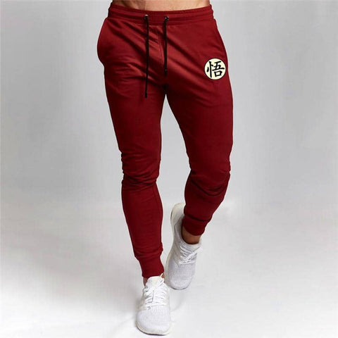 Dragon Fitted Workout Sweats Red V2 - FitKing