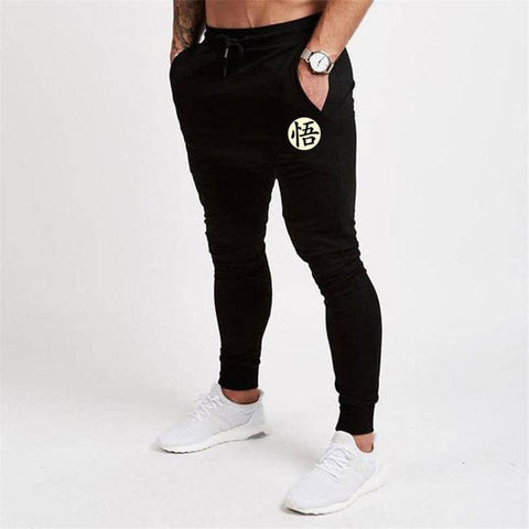 Dragon Fitted Workout Sweats Black V2 - Superhero Gym Gear