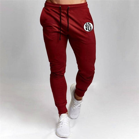 Dragon Fitted Workout Sweats Red V1 - FitKing