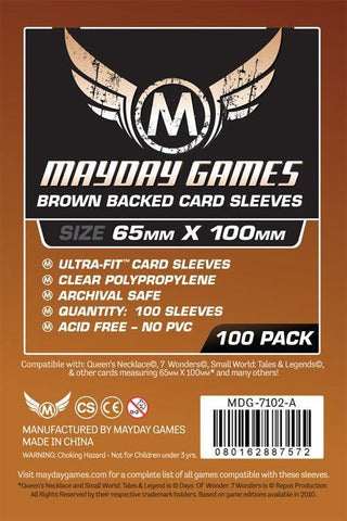 MDG 65x100mm Magnum Copper Ultra-Fit Brown Backed Card Sleeves 100/pk
