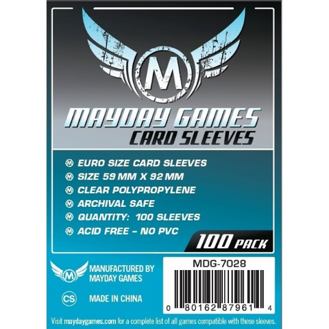 MDG 59x92mm Euro Card Sleeves 100/pk