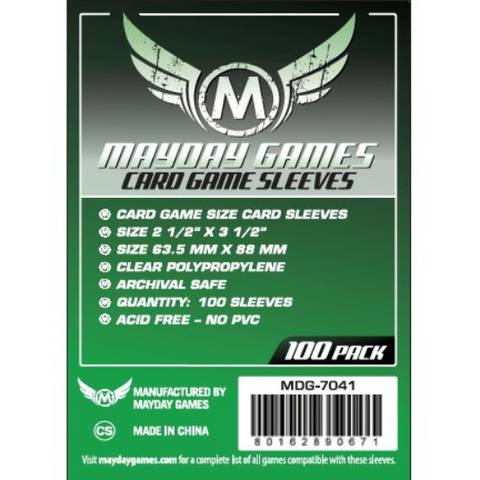 MDG 63.5x88mm Card Game Sleeves 100/pk