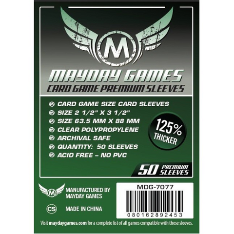 MDG 63.5x88mm Card Game Sleeves Premium 50/pk