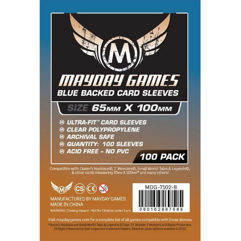 MDG 65x100mm Magnum Copper Ultra-Fit Blue Backed Card Sleeves 100/pk