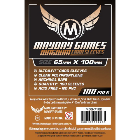 MDG 65x100mm Magnum Copper Ultra-Fit Card Sleeves 100/pk
