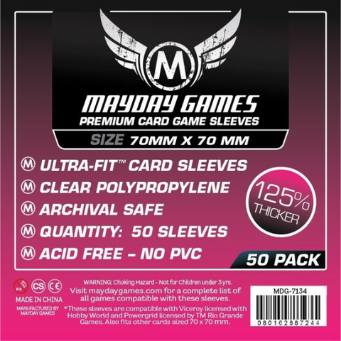 MDG 70x70mm Card Game Sleeves Premium 50/pk